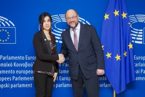 Martin SCHULZ - EP President meets with Nadia Murad BASEE TAHA representing Yazidi people suffering from ISIS