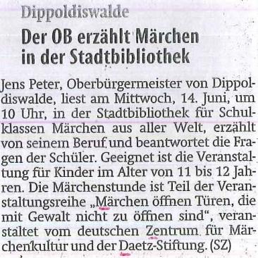 12.06.2017, Sächsische Zeitung