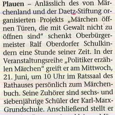 17.06.2017, Vogtland-Anzeiger