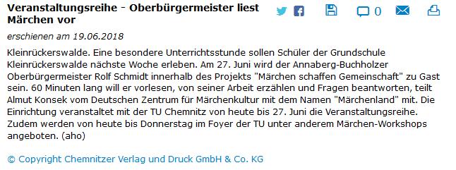 19.06.2018, www.freiepresse.de